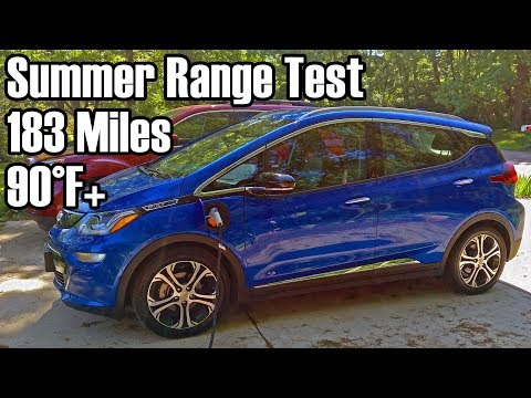 Chevy Bolt EV Summer Range Test