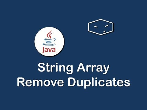 string array remove duplicates in java