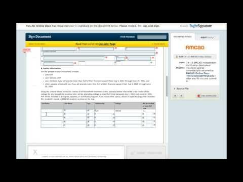 RMCAD Online Independent Verification Worksheet
