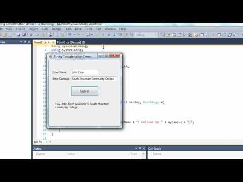04D-C# String Concatenation (C#)