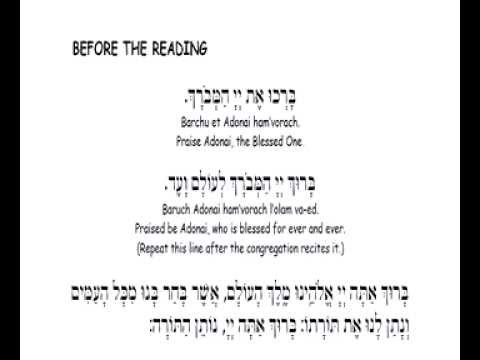 How to Chant the Torah Blessings