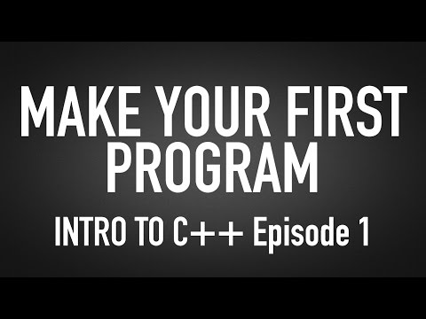 How To Make Your First Computer Program - Intro For Beginners to C++
