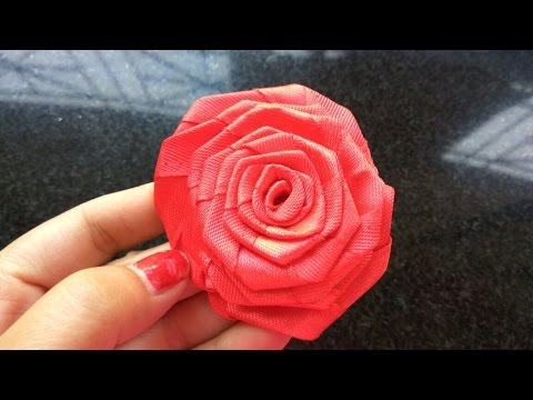 DIY | How to make Rose Flower of Satin Ribbon | Flower making | Flowers for decoration