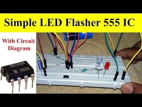 How to Make Flashing LED Using 555 Timer IC With Circuit Diagram| Mr. Dhakad