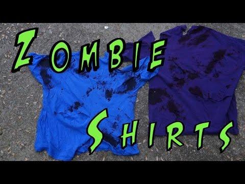 making zombie shirt zombiefy tshirts