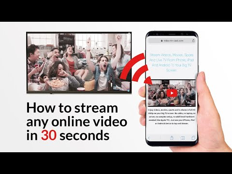How to stream any online video to your big TV in 30 seconds - Chromecast, Samsung, LG, Sony, Roku