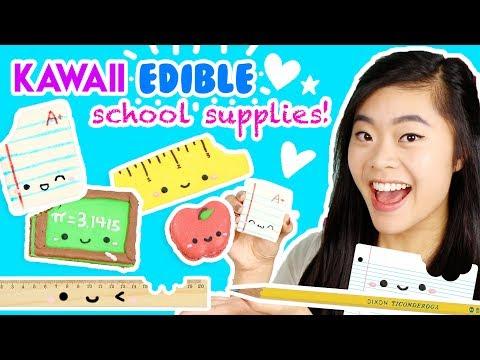 DIY Kawaii EDIBLE School Supplies!!! 📚😋 (Easy and Fun!)