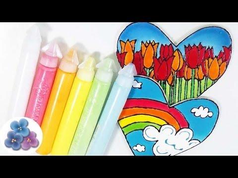 How to make glass Paint EASY DIY How to make paint Homemade Paint kawaii Mathie