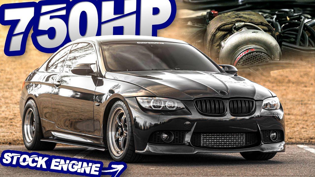 750HP BMW 335i on STOCK MOTOR GAPS Domestics on the Street! (Stick Shift + Single Turbo)