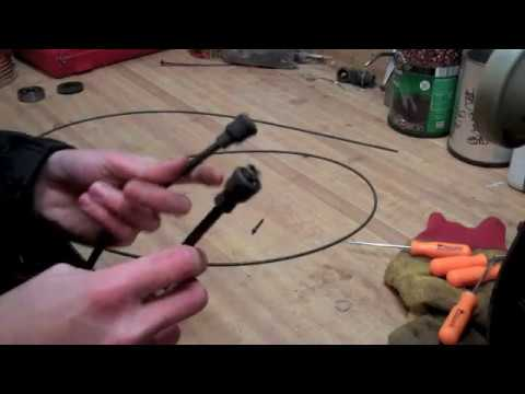 Snowmobile speedometer cable repair