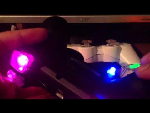 Fully Lit LED Lights Modded PS3 Controller