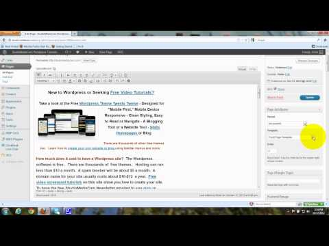 Remove Sidebars - Wordpress Theme - Twenty Twelve - Homepage - Templates