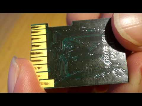 Inside a 4GB Class 6 SDHC memory card