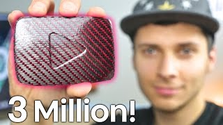 Carbon Fiber Play Button For 3 Million Subscribers!