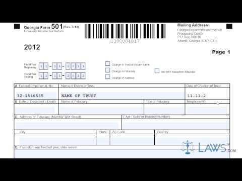 Form 501 Fiduciary Income Tax Return