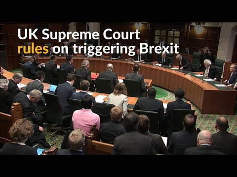 UK Supreme Court just derailed Theresa May's Brexit