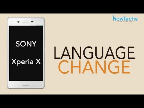 Sony Xperia X - How to Change Language