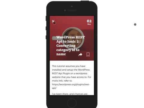 Magaza Ionic 2 App starter for Wordpress