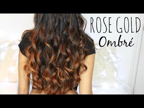 Rose Gold Ombré // From Dark Hair