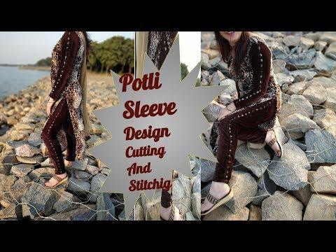 Designer sleeve cutting and stitching/Full sleeve cutting and stitching