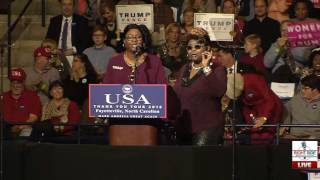 Diamond & Silk Speak at Donald Trump Rally in Fayetteville, NC 12/6/16