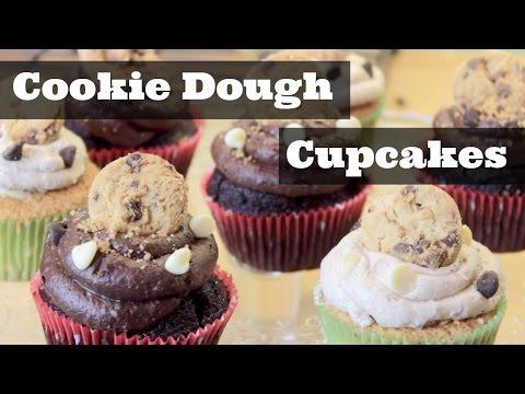 Cookie Dough Stuffed Cupcakes | ThoseRosieDays