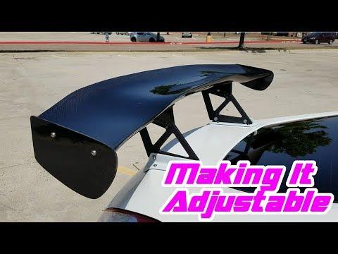 Fixing My 370Z GT Spoiler - Making it Adjustable