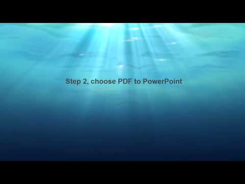 How to Export PDF Presentation back to PowerPoint