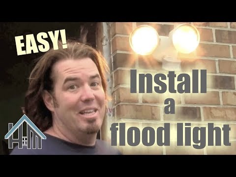 How to install an exterior light, motion sensor flood light. Easy! Home Mender.