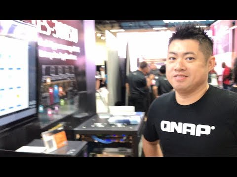 VMworld 2017 US - at QNAP, Product Marketing Director James Wu shows us the latest NASs and 10GbE
