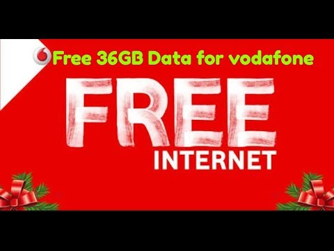 FREE 36GB Data for vodafone  customer