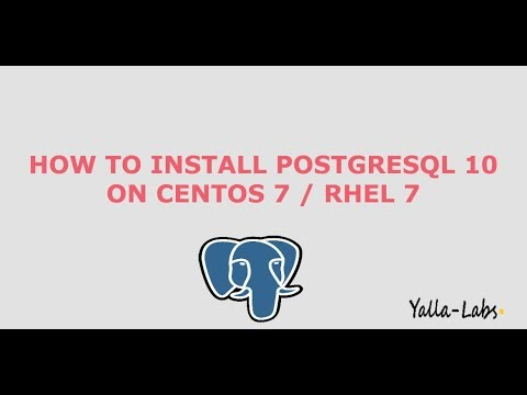 PostgreSQL - How to install PostgreSQL 10 On CentOS 7 / RHEL 7