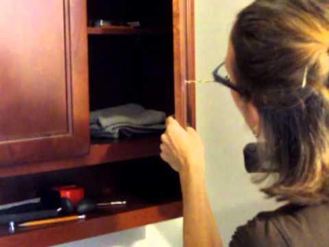 installing cabinet door pulls