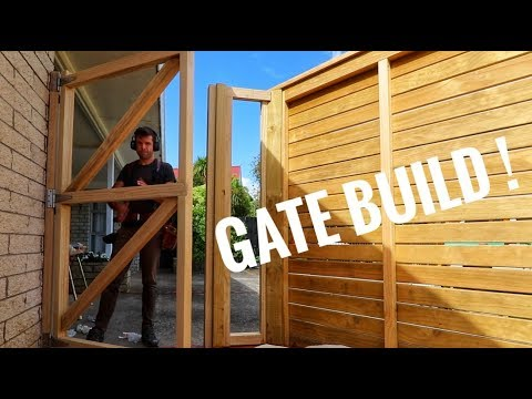 How to Build a Wooden Gate with Horizontal Slats