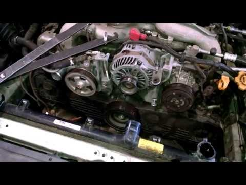 Timing belt replacement Subaru Legacy 2009 Water pump How to change WP and TB