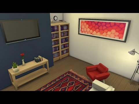 Sims 4 Room Design - Ecletic Living room