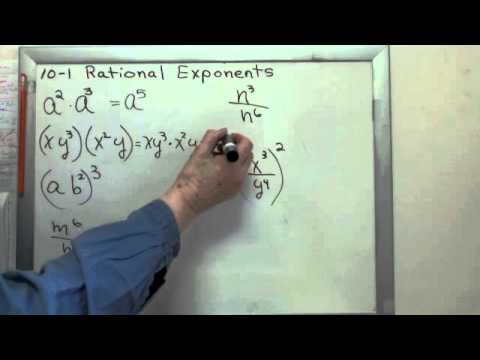 Exponent Rules Review