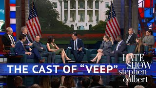 Download The Cast Of 'VEEP' Meets Superfan Stephen Colbert Video