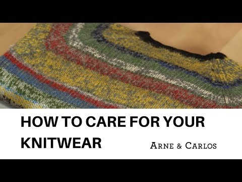 How to care for your knitwear, by ARNE & CARLOS