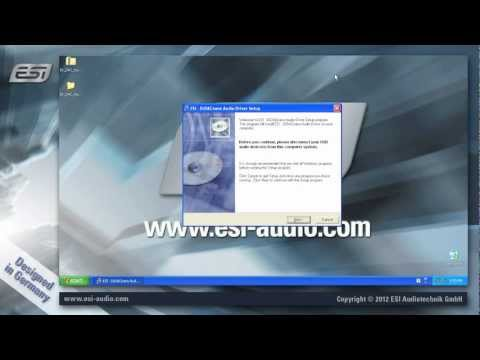 ESI USB Audio Interface - driver installation under Windows XP
