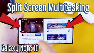 Galaxy Note 10 / 10+: How to Use Split Screen View (Multitasking Feature)
