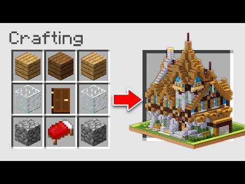 HOW TO MAKE A HOUSE USING CRAFTING TABLE ON MINECRAFT!
