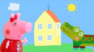 Peppa Pig Game   Crocodile Hiding In Peppa Pig Toys - Family Home Playset