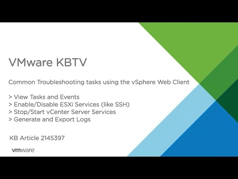 Common Troubleshooting Tasks in the vSphere Web Client