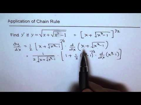 Derivative of sq rt(x + sq rt(x^3 - 1)) Chain Rule on Nested  Square Root Function