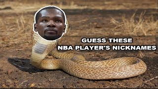 NBA NICKNAME QUIZ | CAN YOU GUESS THESE NBA PLAYER
