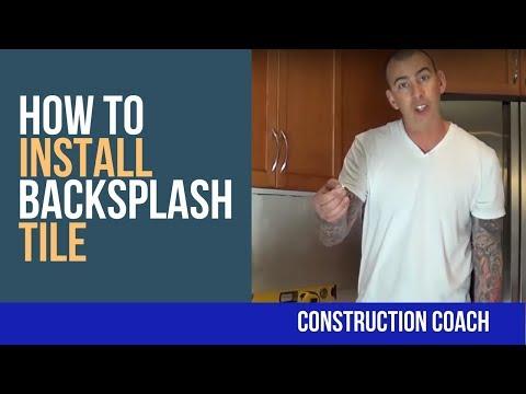 How to Install Backsplash Tile - DIY