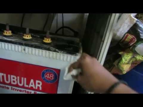 Steps to fill battery water in home inverter | Battery maintenance of inverter