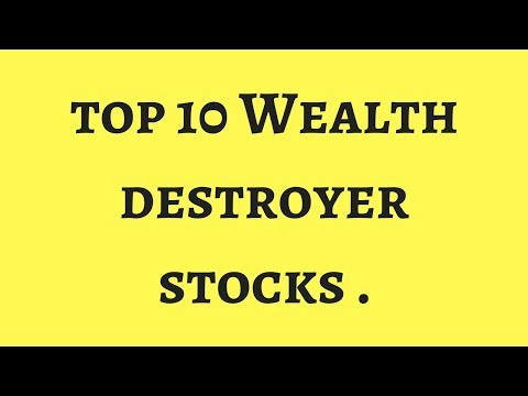 Top 10 Kattappa Stocks (WEalth destroyer stocks ) of the past .