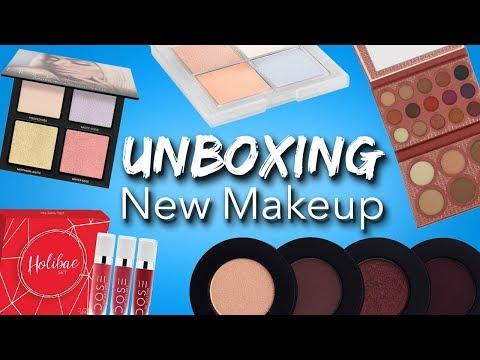Unboxing + Swatching NEW Makeup | Alexandra Anele